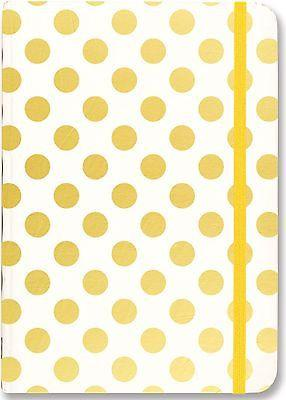 Peter Pauper Press - Journal - Gold Dots - Petals and Postings