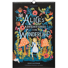 Load image into Gallery viewer, Rifle Paper Co. 2016  Alice in Wonderland Calendar - Petals and Postings