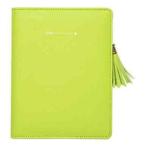 Citron Arrow Zipper Cover Journal - Petals and Postings