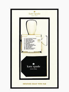 Kate Spade Rotating Stamp with Pad - Petals and Postings