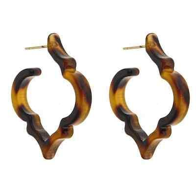 Tortoise Earrings - Signature Spade Hoops - Fornash - Petals and Postings
