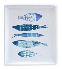 Load image into Gallery viewer, Ceramic Fish Plate - Malaga Fish Pattern - Boston International - Petals and Postings