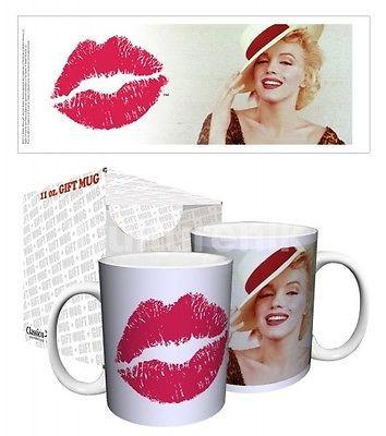 Drinkware-Marilyn Monroe Lipstick - 11 oz Mug - Classico San Francisco - Petals and Postings