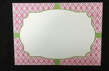 Load image into Gallery viewer, Lilly Pulitzer Pink Bamboo Flat Notecard Set - Petals and Postings