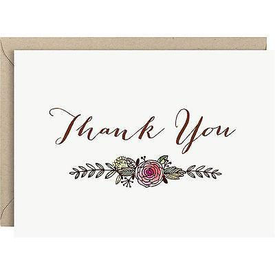 Laurel Watercolor Thank You Cards - Set of 10 - Petals and Postings