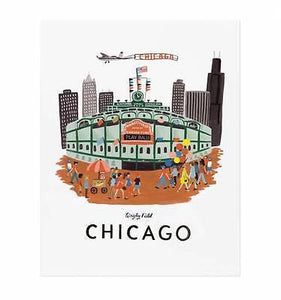 Rifle Paper Co. Wrigley Field Medium Art Print - Petals and Postings