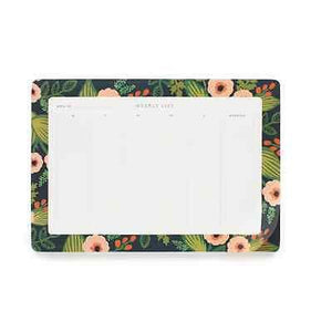 Rifle Paper Co. Jardin Weekly Desk Pad - Petals and Postings