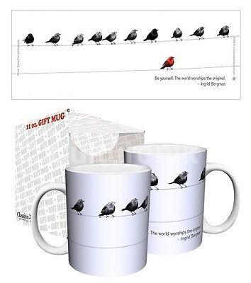 Drinkware-Birds - Be Yourself - 11 oz Mug - Classico San Francisco - Petals and Postings