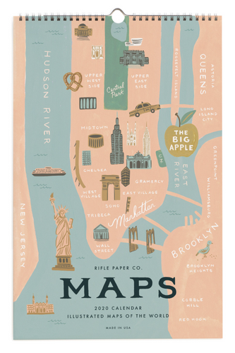 Rifle Paper Co. Maps 2020 Calendar
