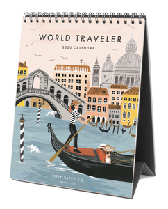 Rifle Paper Co. World Traveler 2020 Desk Calendar