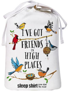 Bird Friends Sleep Shirt with Gift Bag - Petals and Postings