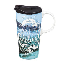 Load image into Gallery viewer, The Water is Calling Travel Coffee Cup
