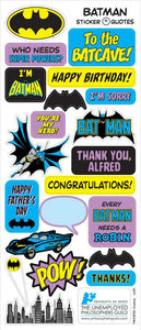 Batman Greeting Card with Sticker Quotes