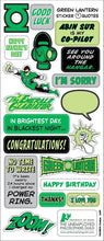 Load image into Gallery viewer, Green Lantern Greeting Card with Sticker Quotes