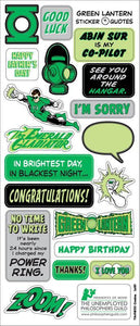 Green Lantern Greeting Card with Sticker Quotes