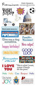 Pope Francis Greeting Card with Sticker Quotes