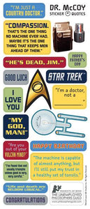 "Dr. Leonard H. ""Bones"" McCoy Greeting Card with Sticker Quotes"