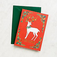 Load image into Gallery viewer, Reindeer Merry Christmas Cards - Petals and Postings