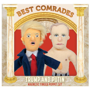 Best Comrades Trump and Putin Finger Puppet and Fridge Magnet Set