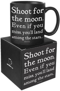 Quotable Shoot For The Moon Ceramic Mug
