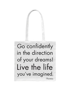 Quotable Go Confidently Tote Bag