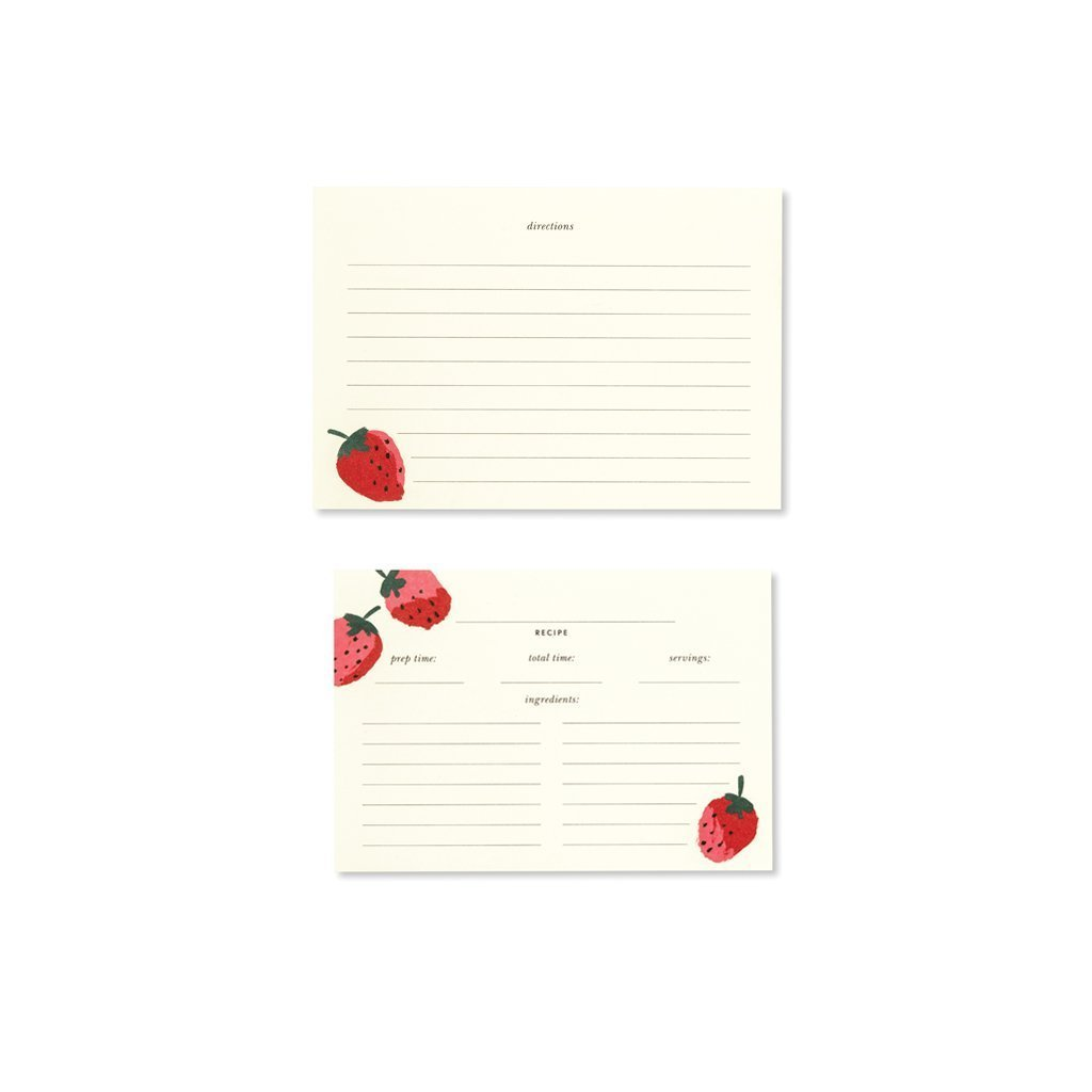 Kate Spade Strawberries Recipe Card Refills