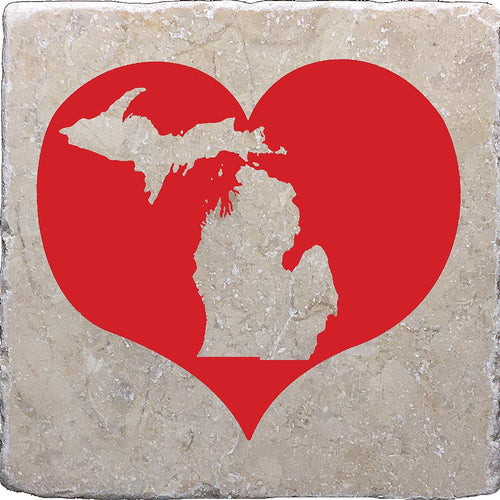 Red Heart Michigan Marble Coaster, Noomoon