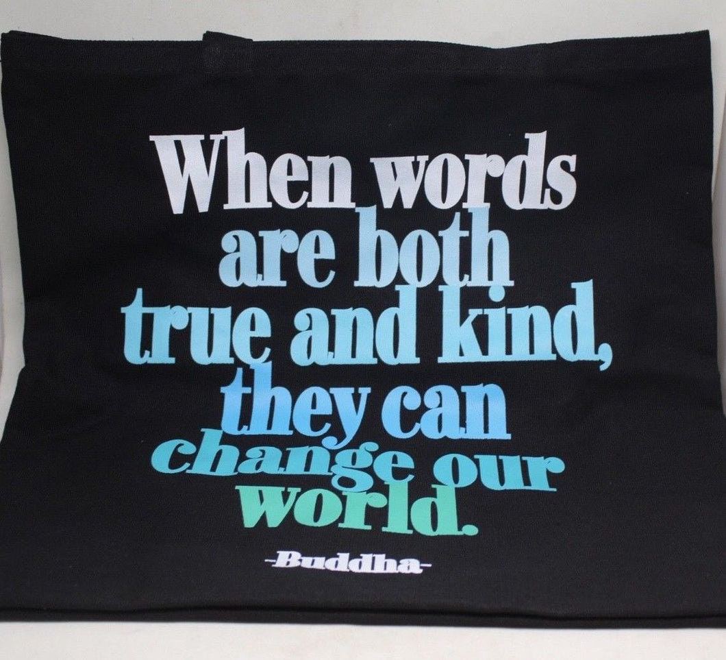Quotable Kind Words Canvas Tote Bag