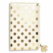 Load image into Gallery viewer, Kate Spade Gold Dot Pencil Pouch Set - Petals and Postings