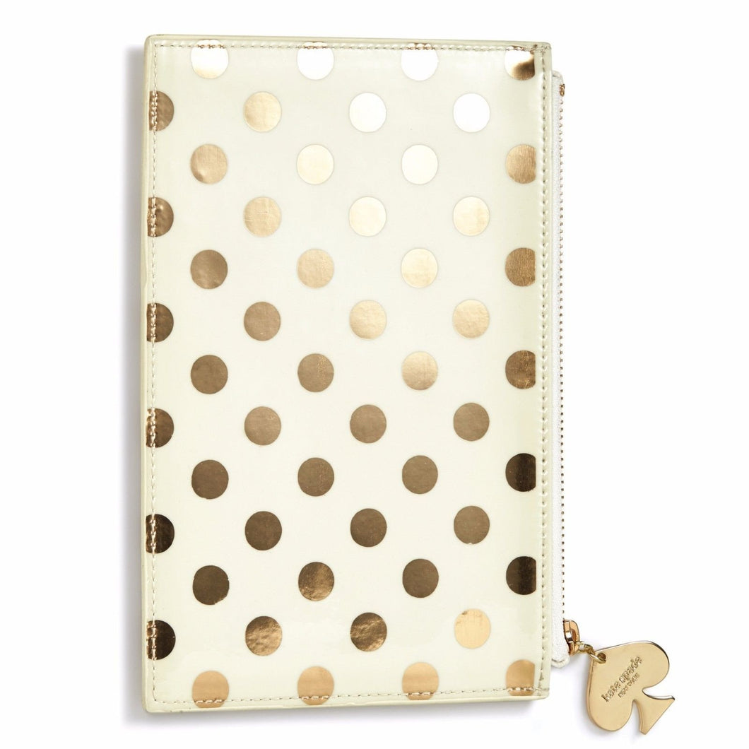 Kate Spade Gold Dot Pencil Pouch Set - Petals and Postings