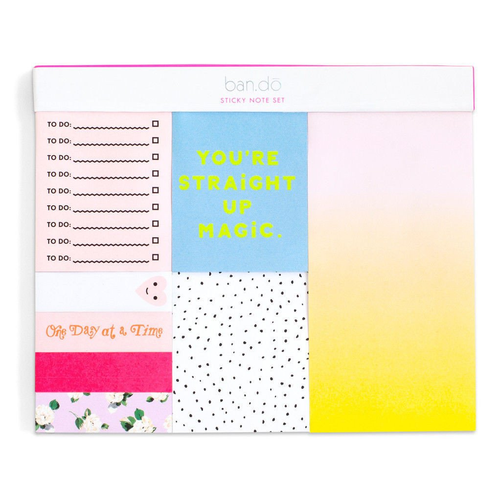 Straight Up Magic Sticky Note Set - Petals and Postings
