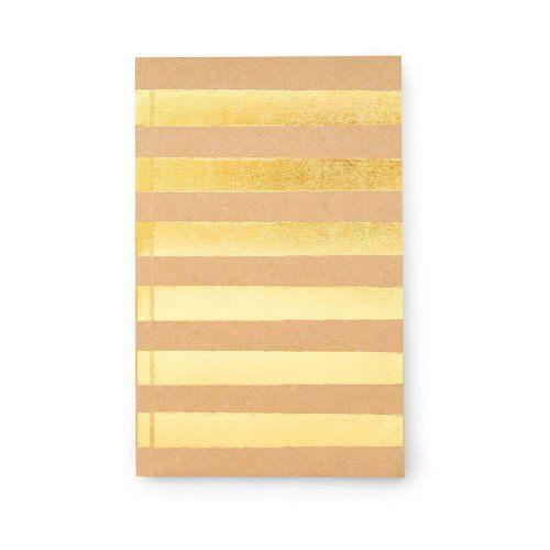 Sugar Paper - Journal - Gold Stripe - Petals and Postings