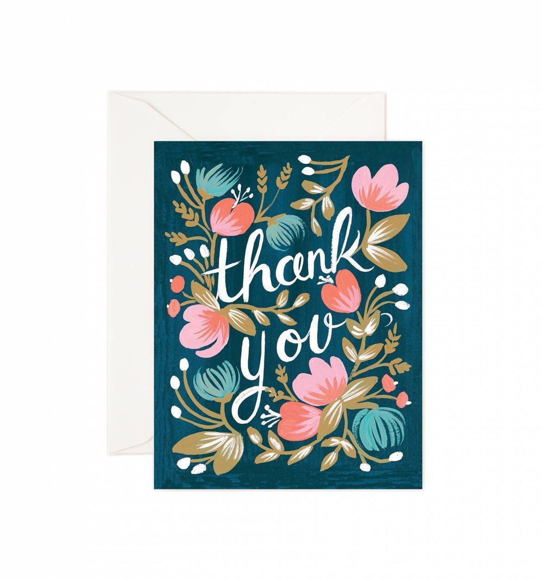 Rifle Paper Co. Midnight Garden Assorted Blank Cards - Petals and Postings