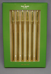 Kate Spade Strike Gold Ink Pen Set