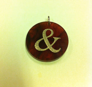 "Moon and Lola Ampersand ""&"" Charm - Amber - Petals and Postings"