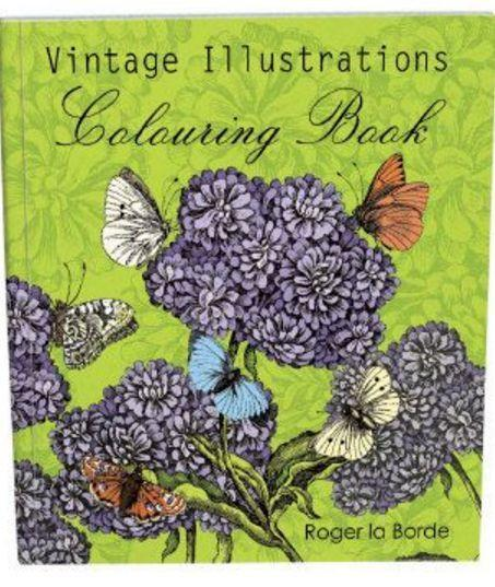 Roger La Borde - Coloring Book - Vintage Illustrations - Petals and Postings