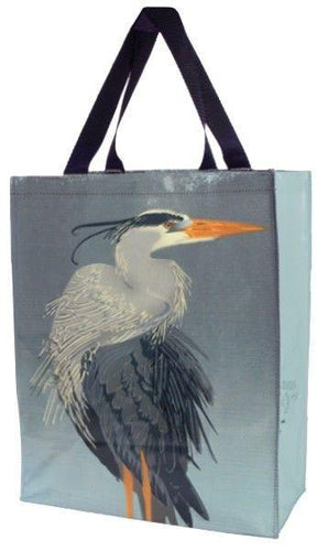 Linnea Design Blue Heron Vertical Tote Bag - Artwork by Johanna Riley - Petals and Postings