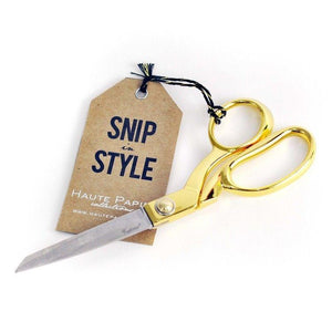 Home & Office-Haute Paper - Gold Scissors - Paper and Fabric Scissors - Great Gift !!! - Petals and Postings