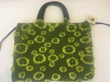 Load image into Gallery viewer, Totebags-Retro Martin & Barnett purse - green velvet flower design - Petals and Postings