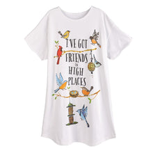 Load image into Gallery viewer, Bird Friends Sleep Shirt with Gift Bag - Petals and Postings