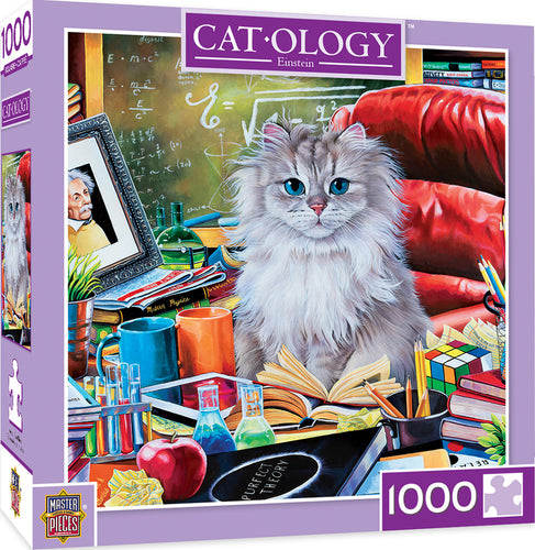 Cat-Ology Einstein 1000 Piece Jigsaw Puzzle