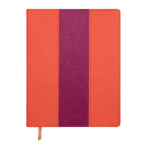 Orange & Purple Leatherette Flex Journal - Petals and Postings