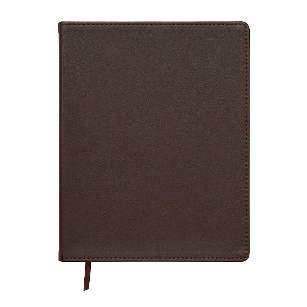 Brown Leatherette Flex Journal - Petals and Postings