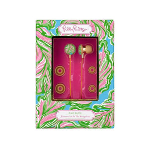 Lilly Pulitzer In the Bungalows Ear Buds