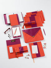 Load image into Gallery viewer, Orange & Purple Leatherette Flex Journal - Petals and Postings