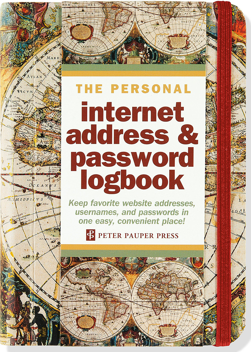 Peter Pauper Press Old World Internet Address and Password Logbook