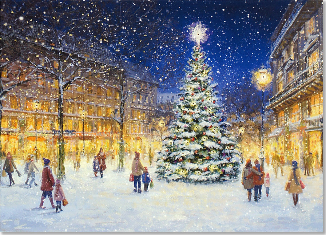 Peter Pauper Press Evening Lights Christmas/Holiday Cards