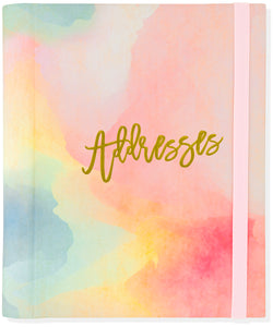 Peter Pauper Press Watercolor Sunset Large Address Book