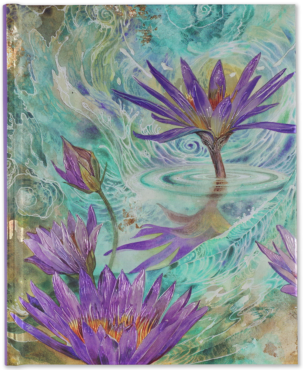 Peter Pauper Press Purple Lotus Oversized Journal