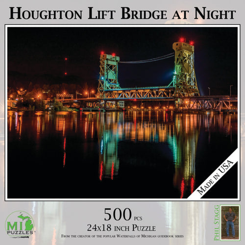 Houghton Lift Bridge at Night 1000 Piece Puzzle